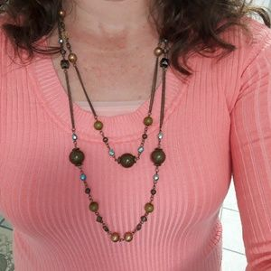 Double Golden Whimsy Necklace